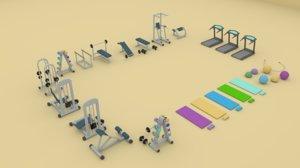 3D model sport gym fitness