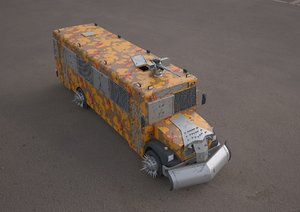 3D model bluebird school bus