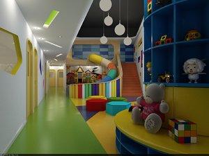 3D kindergarten playground toys