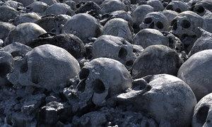 3D model apocalypse rubble mass grave