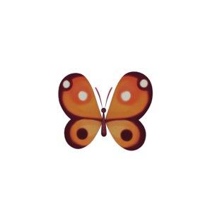 3D model butterfly fly