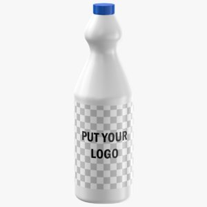 3D editable label bottle
