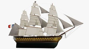 french le sails vessel 3D model