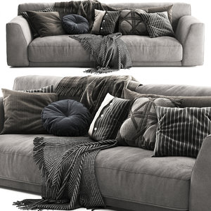 poliform paris seoul sofa 3D model
