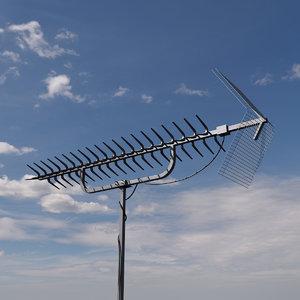 3D model tv antenna