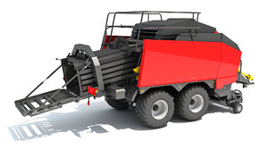 large square baler 3D model