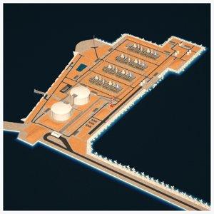 lng terminal island model