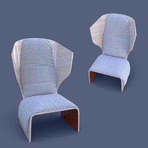 3D cassina armchair