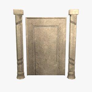 gate columns 3D