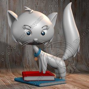 3D model adorable cat animation
