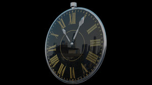 3D stopwatch clock