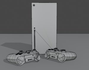 3D console xbox series x model