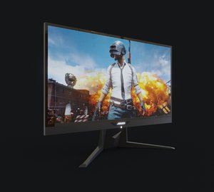 monitor gaming ad27qd aorus 3D model