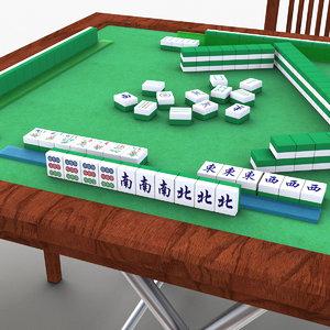 mahjong table 3D