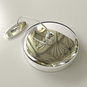3D retractable clothesline model