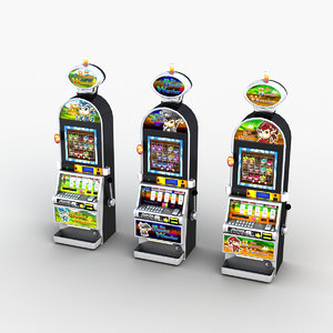 3D slotmachine 0001 model