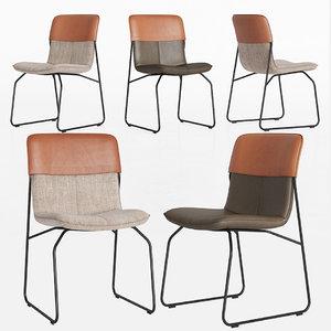 3D leolux ditte chair dinning model