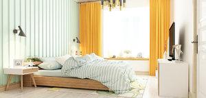 3D bedroom modern