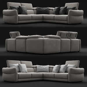 corona notturno sofa 3D model