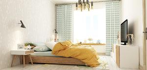 bedroom modern 3D