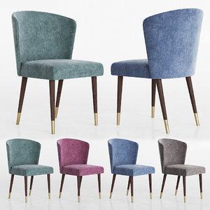 3D model ninfea dining chair capitalcollection