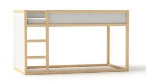 3D kura reversible bed model