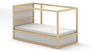 3D kura reversible bed