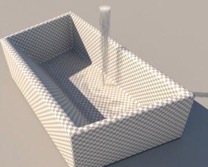sink water 3D model