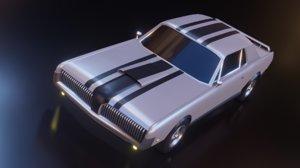 3D muscle cougar xr1970 blender car model
