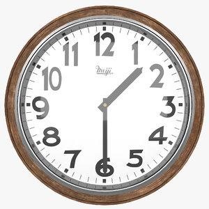 vintage meiji wall clock 3D model