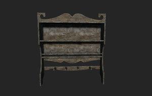 old classic shelf 3D model