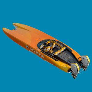 boat ship motorboat model