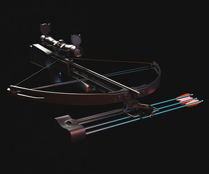 3D crossbow weapon model