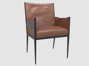 3D rare armchair jean-michel frank