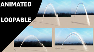 water jets fountains animations model