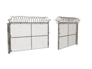 military fence gate 3D model