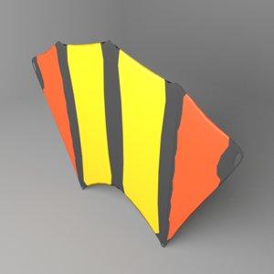 kite swallow 3D model
