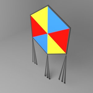 hexagonal kite 3D