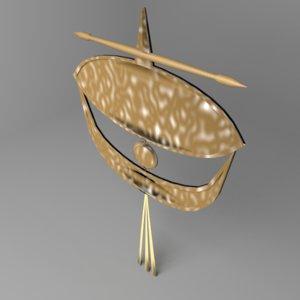 moon kite 3D model