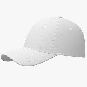 3D baseball cap white