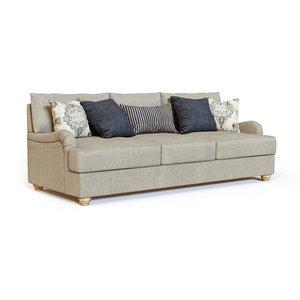 3D model dandrea queen sofa sleeper