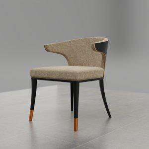 3D beau dining chair model