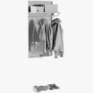 base mesh rail coat model