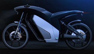 electric motorcycle concept 3D