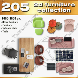 2d sofa chair furniture collection