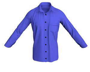 shirt men s 3D model