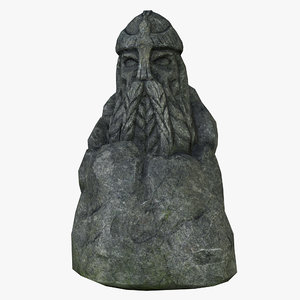 3D model celtic idol 10