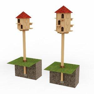 3D wooden dovecote