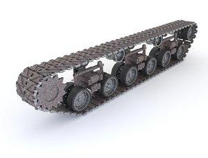 tank tracks 3D model