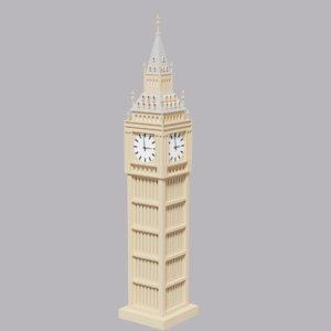 3D model cartoon london big ben